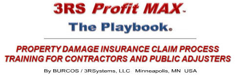 roofing contractor insurance claims repair process training